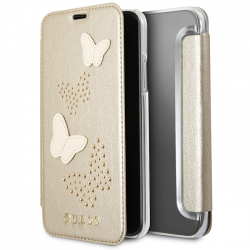 Bao da iPhone XS Max Guess Gold Glitter Butterfly