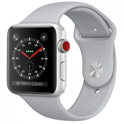 AW Series 3 GPS + Cellular Stainless Steel 38mm Silver