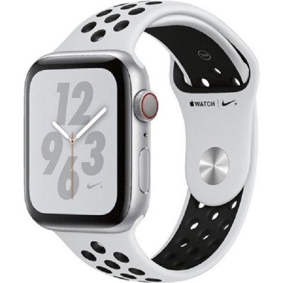 Apple Watch Series 4 Nike+ 44mm (MTXC2) GPS + Cellular Silver Aluminum Case with Pure Platinum Black Nike Sport Band
