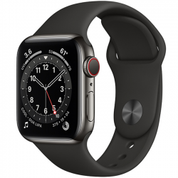 AW Series 6 40mm Stainless Steel Black Sport Band (M06X3)