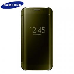 Samsung Galaxy S6 Edge Clear View Cover Case - Gold