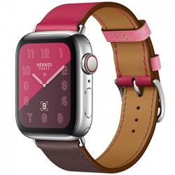 Apple Watch Hermès Series 4 40mm Stainless Steel Case with Bordeaux Rose Extrême Rose Azalée Swift Leather Single Tour