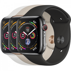 AW Series 4 44mm Black Stainless Steel Sport Band