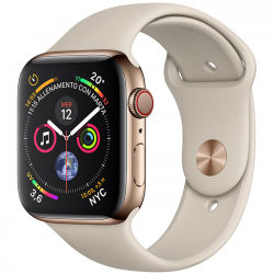 Apple Watch Series 4 44mm LTE Stainless Steel Case with Sport Band
