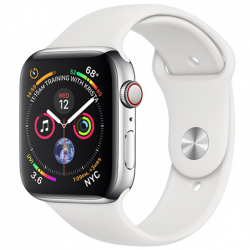 Apple Watch Series 4 40mm LTE Stainless Steel Case with  Sport Band