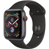 Apple Watch Series 4 40mm GPS + Cellular Space Gray Aluminum Case with Black Sport Band