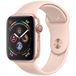 Apple Watch Series 4 44mm (MTV02) GPS + Cellular Gold Aluminum Case with Pink Sand Sport Band