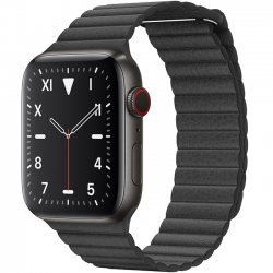 AW Edition Space Black Titanium Leather Loop 44mm MXAA2