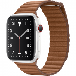 AW Edition 44mm White Ceramic Leather Brown Loop MXAF2