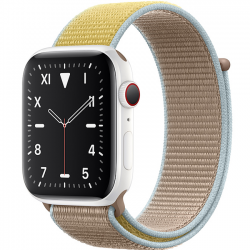 AW Edition 44mm White Ceramic Sport Loop Camel MWU22