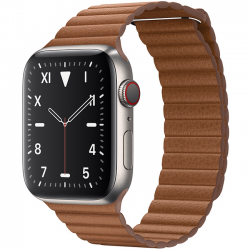 AW Edition Titanium Leather Loop Brown 44mm MXAF2