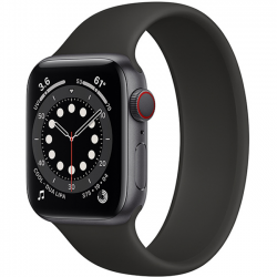Apple Watch Series 6 40mm GPS + Cellular Space Gray Aluminum Case with Black Solo Loop