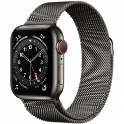 AW Series 6 40mm (M06Y3) GPS + Cellular Graphite Stainless Steel Case with Graphite Milanese Loop