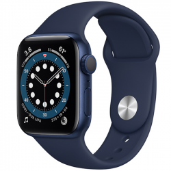 AW Series 6 40mm (MG143) GPS Blue Aluminum Case with Deep Navy Sport Band