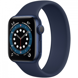 Apple Watch Series 6 40mm GPS + Cellular Blue Aluminum Case with Deep Navy Solo Loop