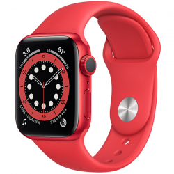 AW Series 6 40mm (M00A3) GPS (PRODUCT)Red Aluminum Case with Red Sport Band