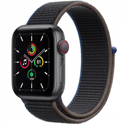 AW SE 40mm (MYEL2) LTE Space Gray Aluminum Case with Charcoal Sport Loop