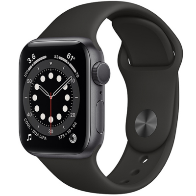 AW Series 6 40mm (MG133) GPS Space Gray Aluminum Case with Black Sport Band