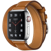 Apple Watch Hermès Series 4 40mm Brown GPS + Cellular Stainless Steel Case with Fauve Barenia Leather Double Tour