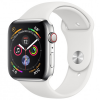 Apple Watch Series 4 44mm (MTV22) GPS + Cellular Silver Stainless Steel Case with White Sport Band