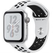 Apple Watch Series 4 Nike+ 44mm(MU6K2) Silver Aluminum Case with Pure Platinum Black Nike Sport Band