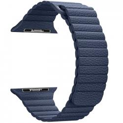 Dây Leather Loop Coteeci Blue 40mm-44mm