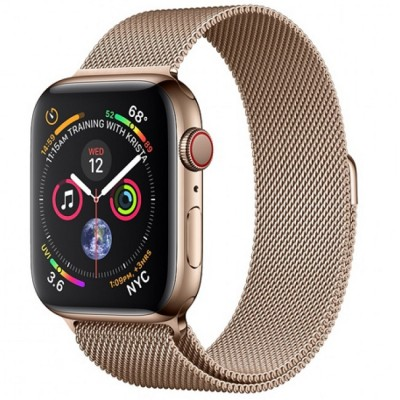 AW Series 4 40mm (MTUT2) Gold Stainless Steel Milanese Loop