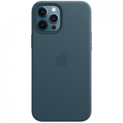 iPhone 12 Pro Leather Case with MagSafe Baltic Blue